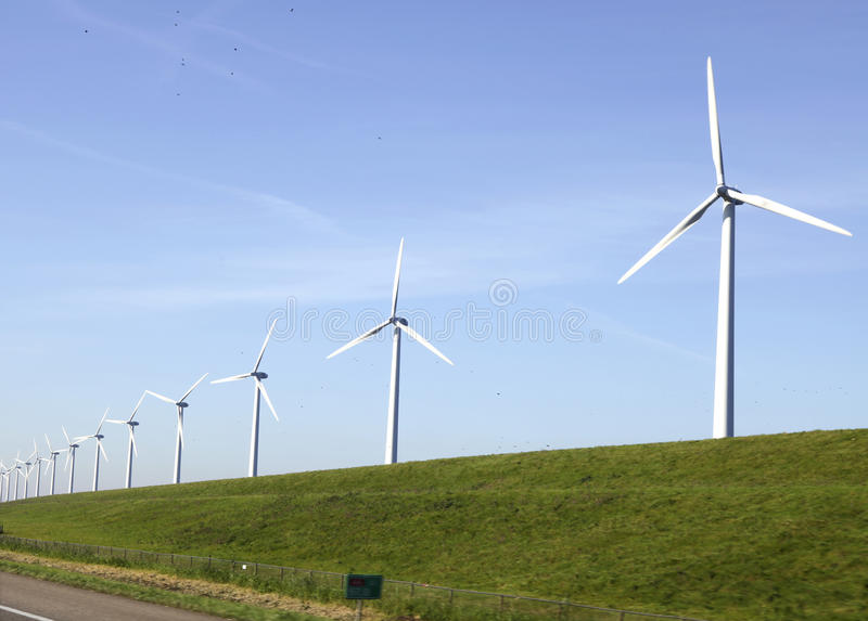 Download Windturbines on a stock photo. Image of green, grass - 21635712