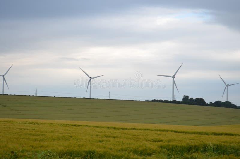 Windturbines no Reino Unido foto de stock