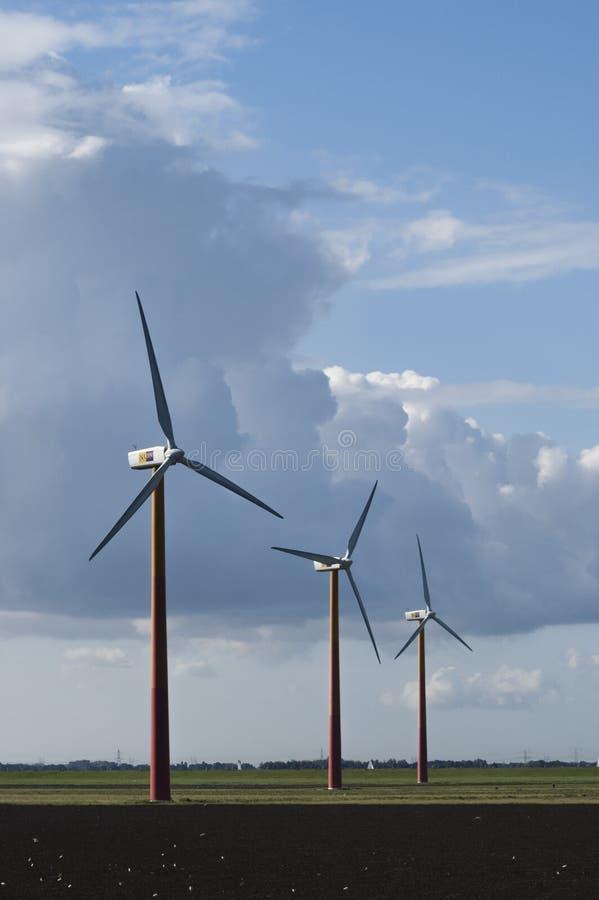 Windturbines, silniki wiatrowi obraz stock