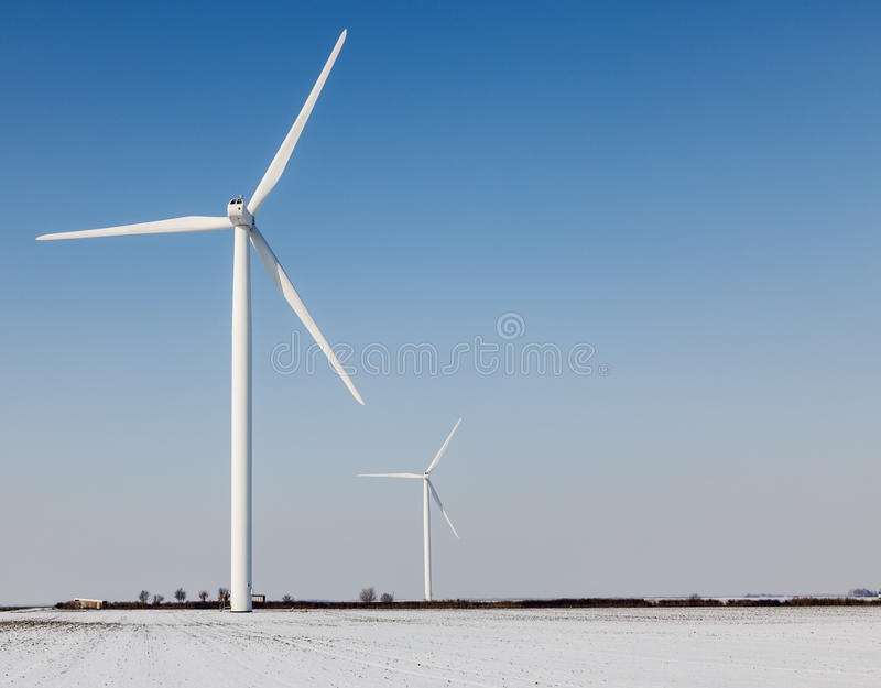 Download Windturbines in winter stock photo. Image of generate - 27246410