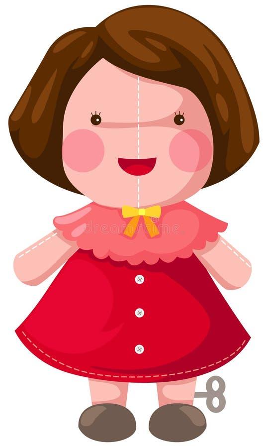 Windup doll vector illustration