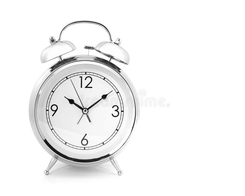 Windup-Typ Alarmuhr stockfoto