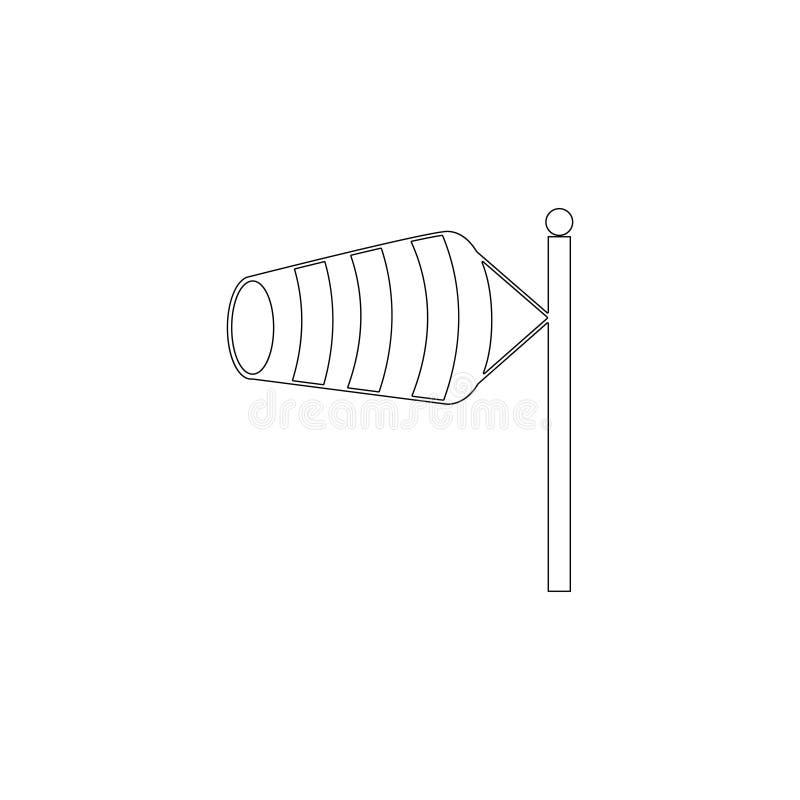 Windvane P?aska wektorowa ikona royalty ilustracja