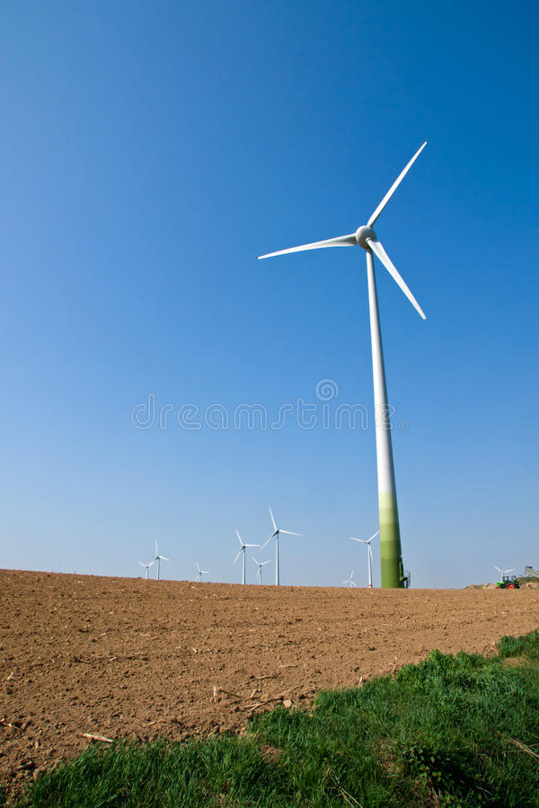 Download Windwheel And A Barren Field Stock Image - Image: 24120539