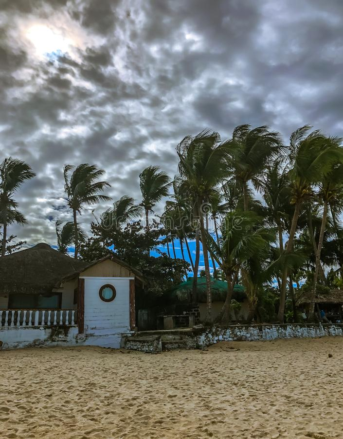 Windy Afternoon bonita na praia fotos de stock royalty free