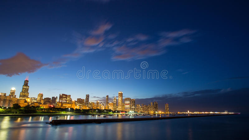 Windy City Skyline stock afbeeldingen