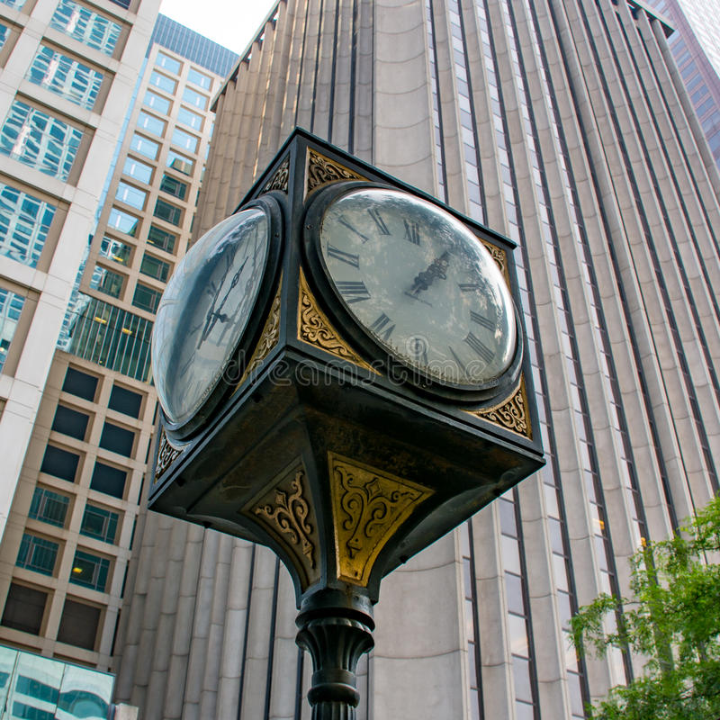 Windy City time stock photography