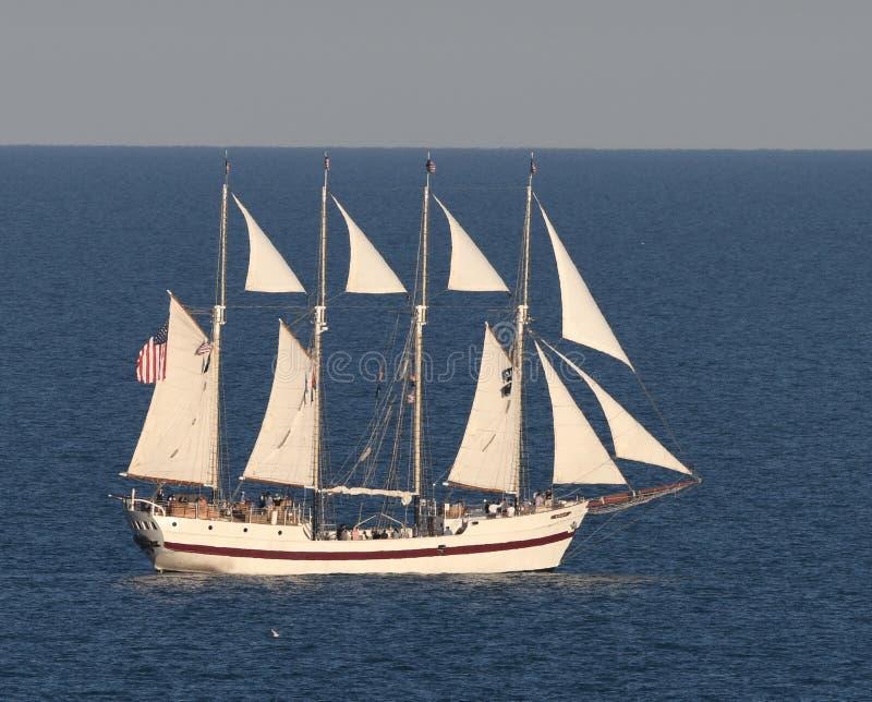 Windy Cruising Lake Michigan fotografia stock libera da diritti