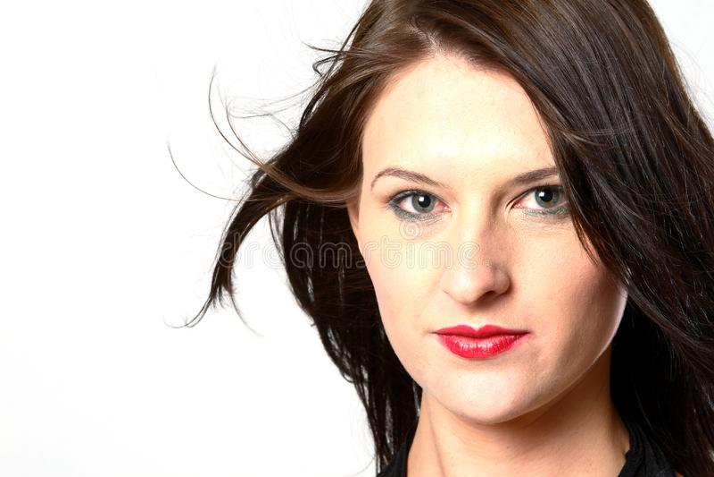 Windy Dark Hair Woman Free Stock Photos