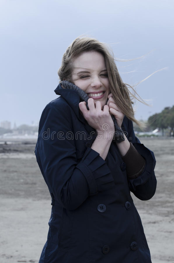 Windy Day On The Bach Royalty Free Stock Image