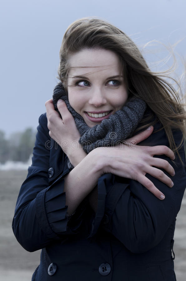 Download Windy day on the bach stock image. Image of looking, image - 26077807