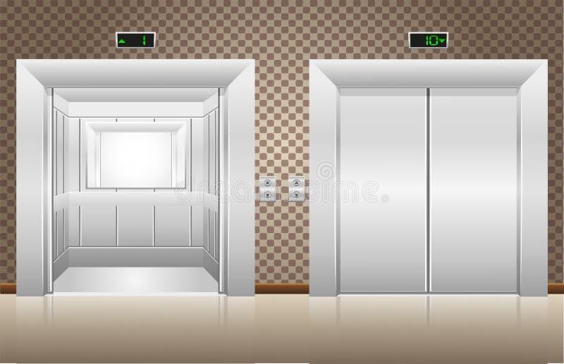 Windy dwa drzwi otwierają i target308_0_ ilustracji