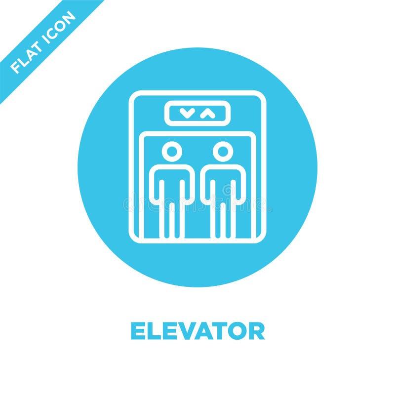 windy ikony wektor od dostępności kolekcji Cienka kreskowa winda konturu ikony wektoru ilustracja Liniowy symbol dla używa dalej ilustracja wektor