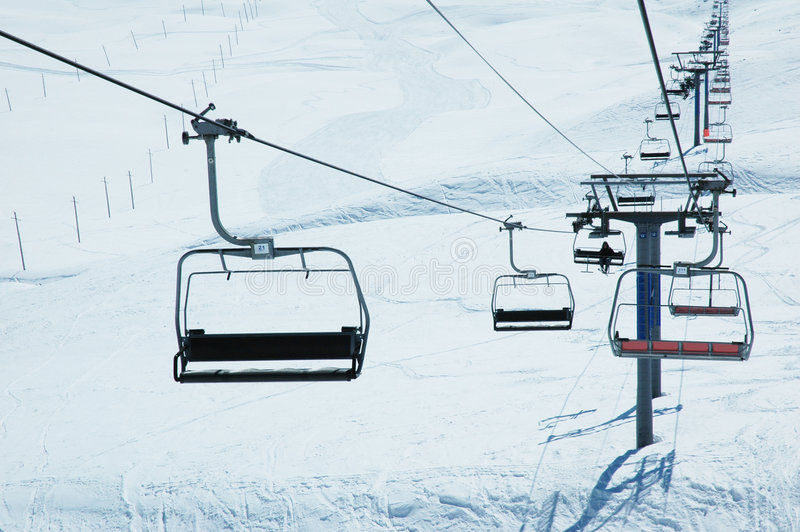 windy na nartach krzesło fotografia royalty free