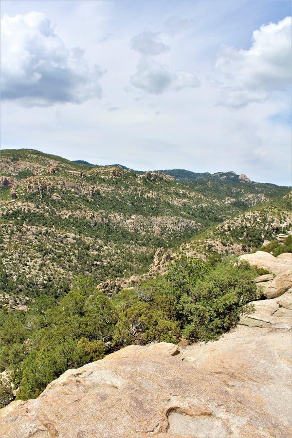 Windy Point Vista, Berg Lemmon, Santa Catalina Mountains, Lincoln National Forest, Tucson, Arizona, Vereinigte Staaten stockfotografie