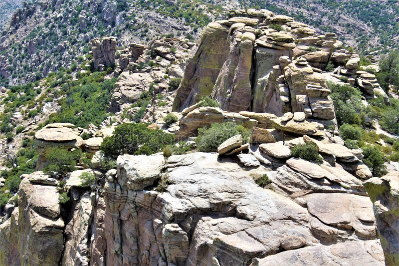 Windy Point Vista, Berg Lemmon, Santa Catalina Mountains, Lincoln National Forest, Tucson, Arizona, Vereinigte Staaten lizenzfreies stockbild