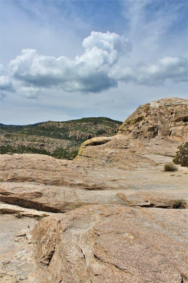 Windy Point Vista, montagem Lemmon, Santa Catalina Mountains, Lincoln National Forest, Tucson, o Arizona, Estados Unidos foto de stock royalty free