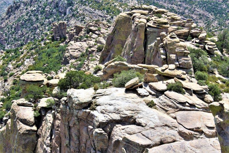 Windy Point Vista, montagem Lemmon, Santa Catalina Mountains, Lincoln National Forest, Tucson, o Arizona, Estados Unidos imagem de stock royalty free