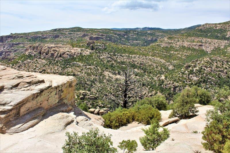 Windy Point Vista, montagem Lemmon, Santa Catalina Mountains, Lincoln National Forest, Tucson, o Arizona, Estados Unidos fotografia de stock