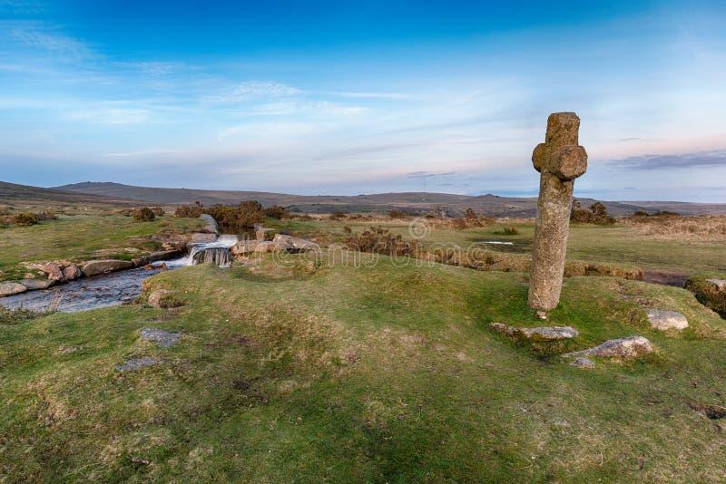 Windy Post sur Dartmoor photographie stock libre de droits