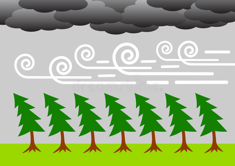 Download Windy weather stock vector. Image of danger, thunderstorm - 19769656
