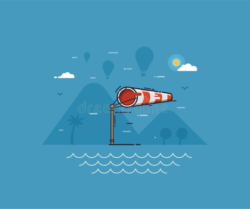 Windy Weather Concept Illustration ilustração stock