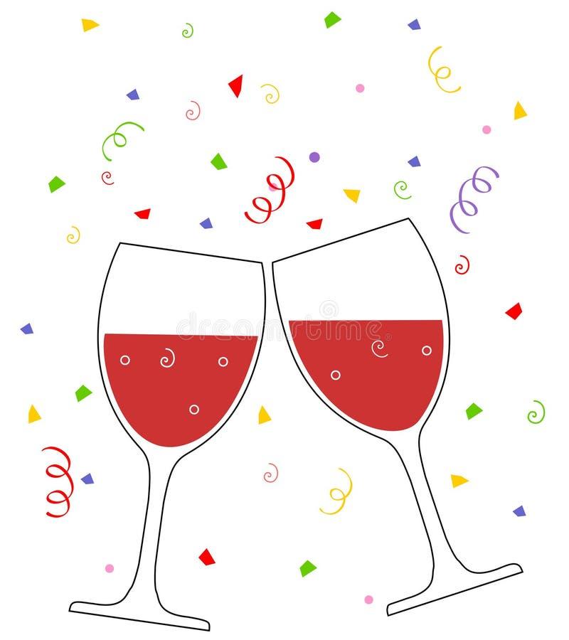 wine royaltyfri illustrationer