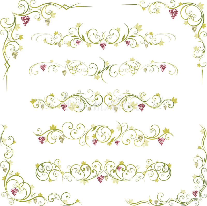 Download Wine Abstract Scroll Shapes Stock Vector - Image: 15981970