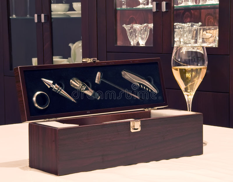 Wine accessories with wine glass