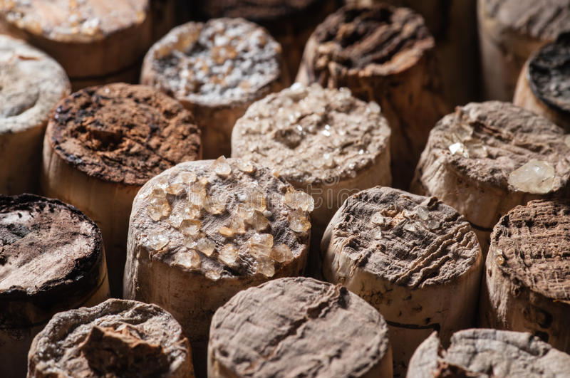 Download Wine Crystals on old Corks stock photo. Image of fall - 29823982