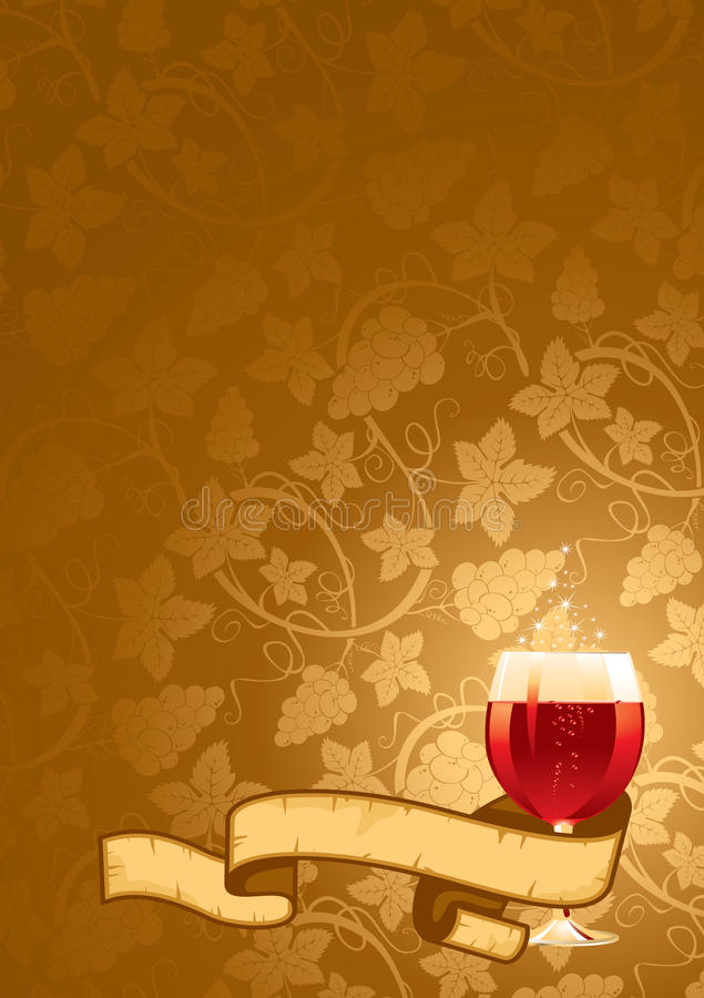 Download Wine Background stock illustration. Image of border, color - 12778304