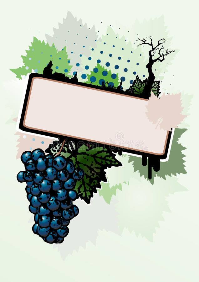 Wine background stock illustration