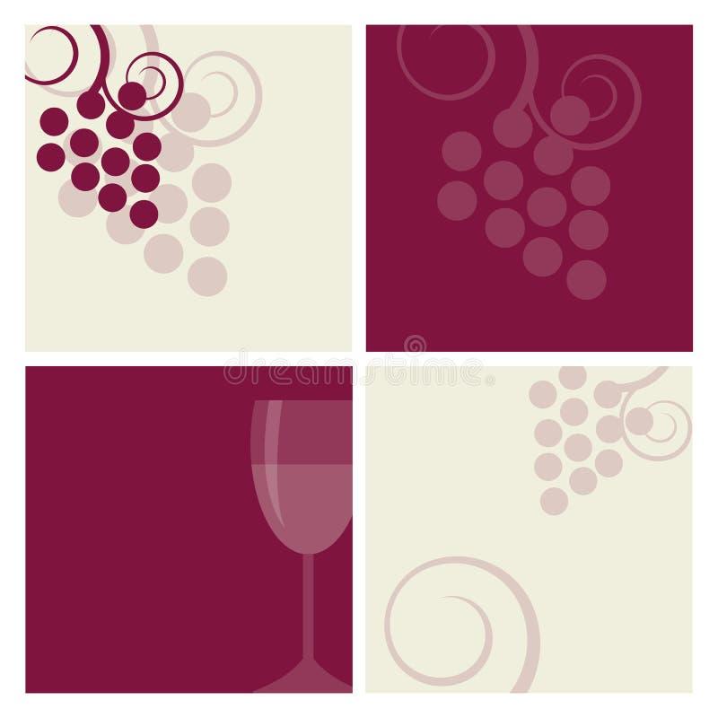Wine backgrounds stock illustration