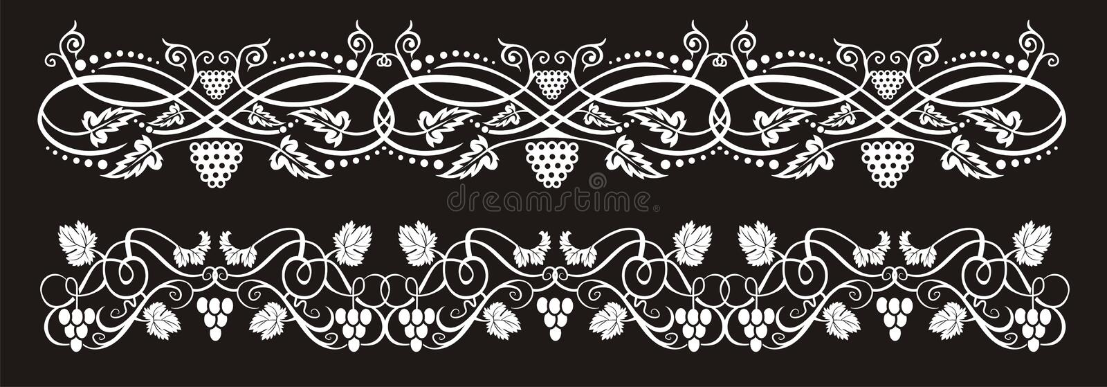 Wine banners royalty free illustration