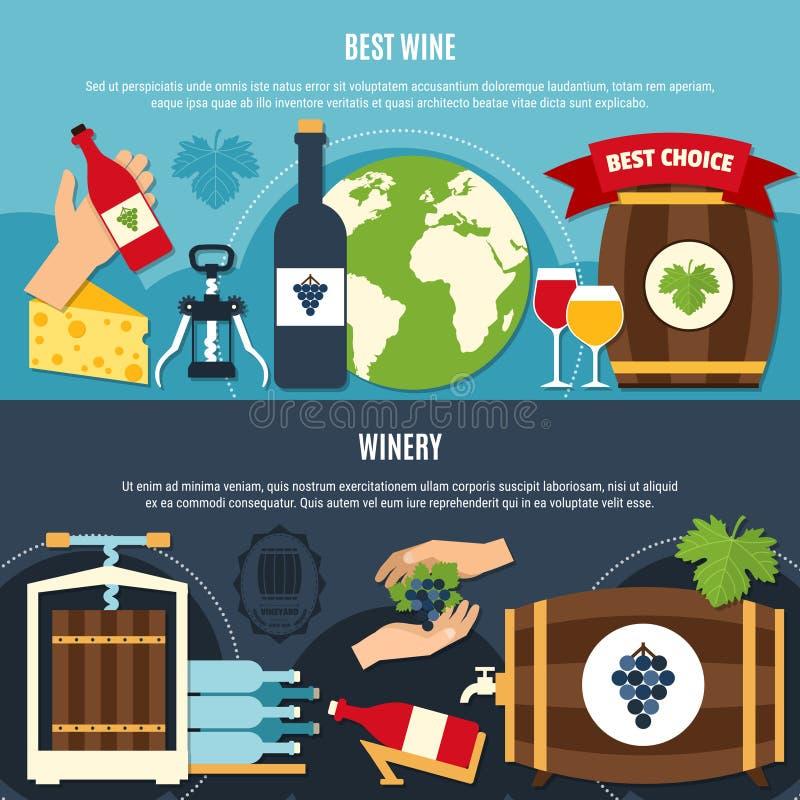 Wine Banners Set stock illustration