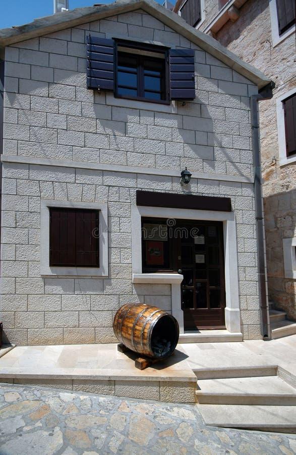 Wine bar croatia stock image