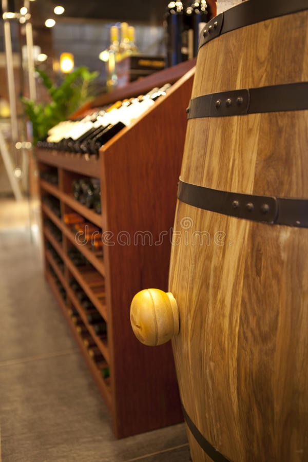 WINE BARREL stock photography