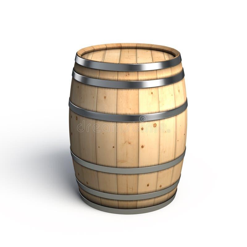 Wine barrel. Isolated on white stock illustration