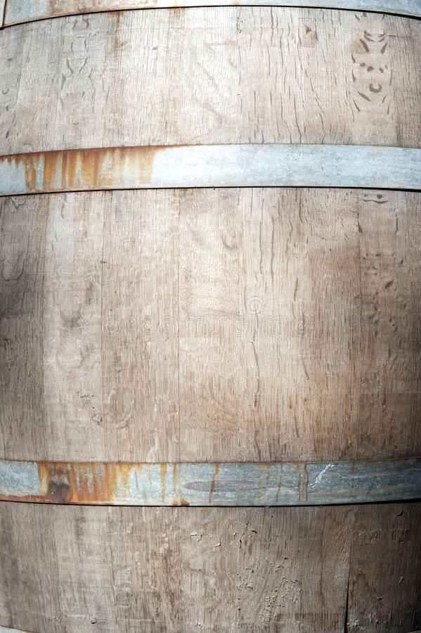 Wine Barrel. This image shows a weathered wine barrel royalty free stock images