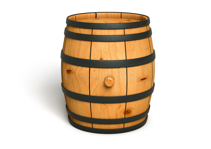 Download Wine barrel stock illustration. Illustration of object - 29385778
