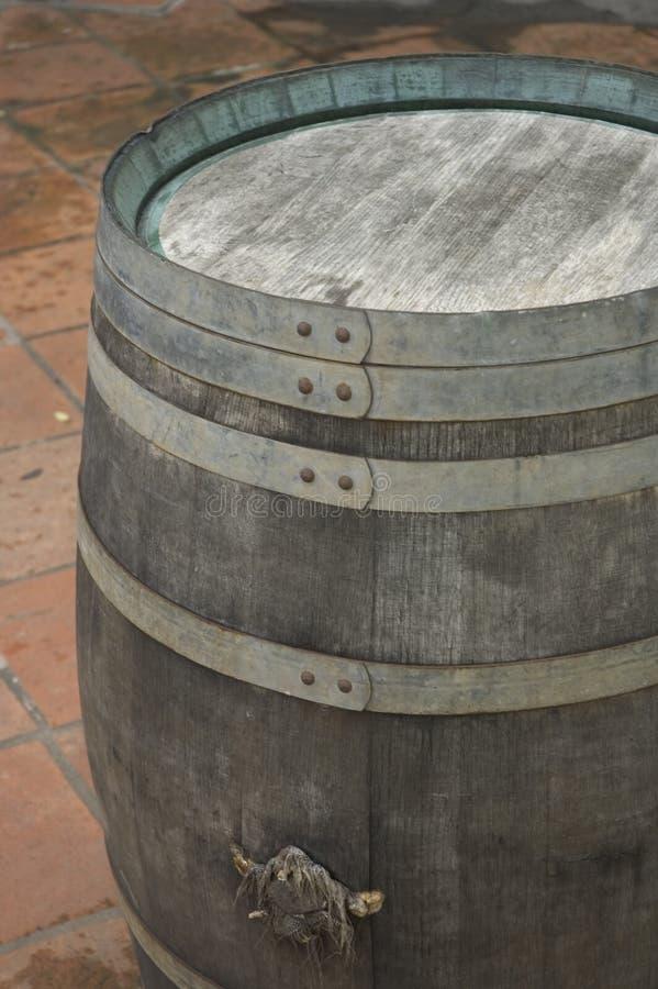 Wine barrel. Old wine barrel royalty free stock photo