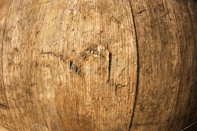 Wine barrel detail. Detail texture wooden barrel for wine, iron hoops on a barrel of wine royalty free stock image