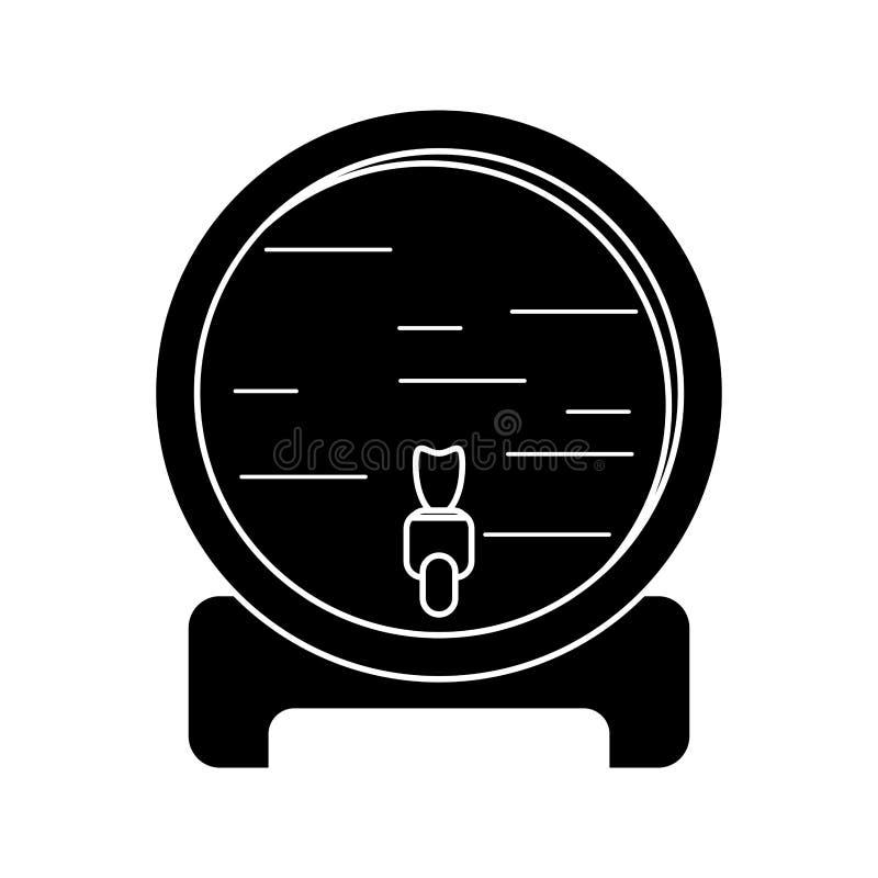 Wine barrel faucet wooden pictogram. Vector illustration eps 10 royalty free illustration
