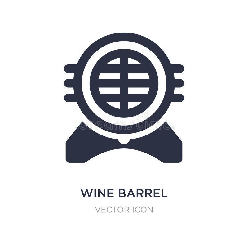 wine barrel icon on white background. Simple element illustration from Alcohol concept royalty free illustration