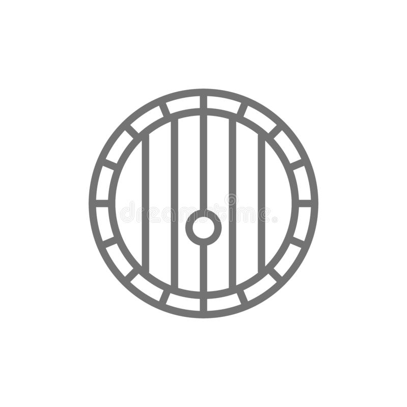 Wine barrel line icon. royalty free illustration
