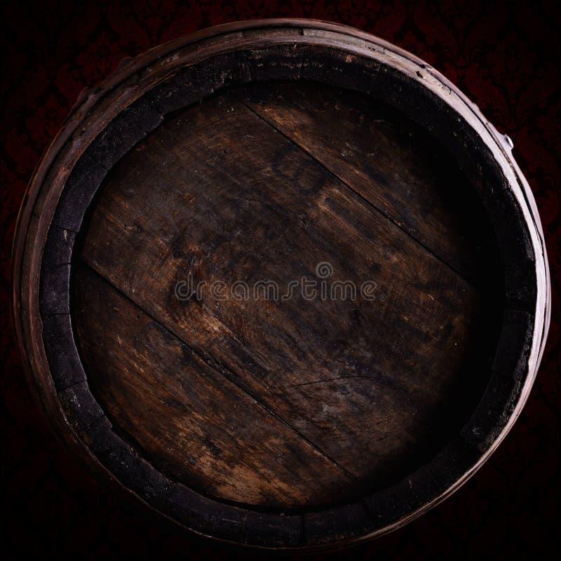 Wine barrel over vintage background. Old wine barrel over vintagebackground royalty free stock images