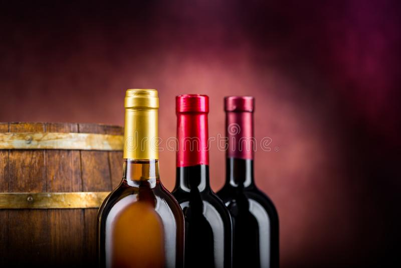 Wine and barrel royalty free stock images