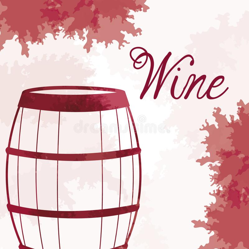 Wine barrel wooden vintage image. Vector illustration eps 10 vector illustration