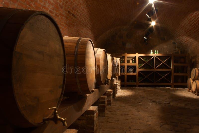 Download Wine barrels in cellar stock image. Image of facade, drinks - 23764885