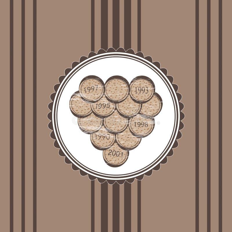 Wine barrels. Background with barrels for wine royalty free illustration